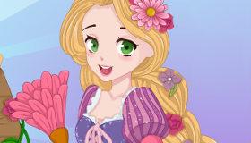 Rapunzel atrapada en el castillo