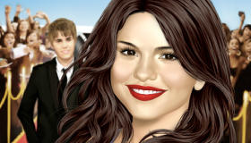 Maquillar a Selena Gomez con Justin Bieber