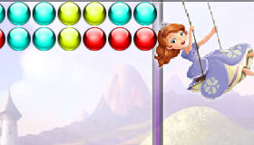 Princesa Sofía dispara burbujas