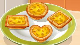 Tartaletas de huevo y plátano