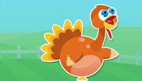 Pavo volador de Acción de Gracias